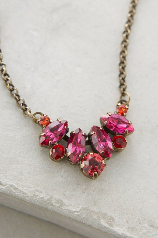 Anthropologie Sparkled Crest Necklace