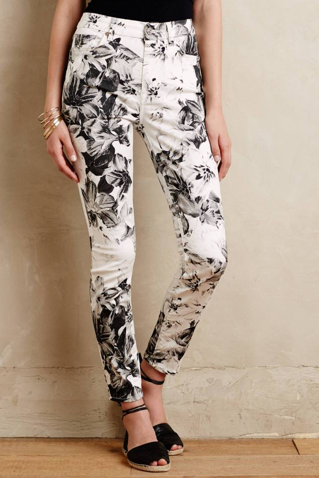 X-Ray Floral Jeans by 7 For All Mankind