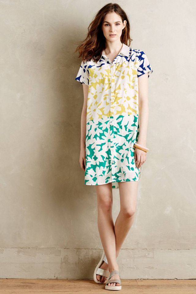 Blocked Blooms Shirtdress by WHIT Two