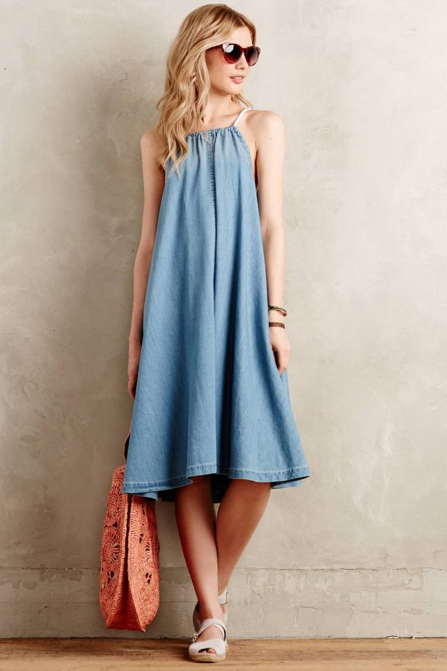 Chambray Swing Dress by Holding Horses