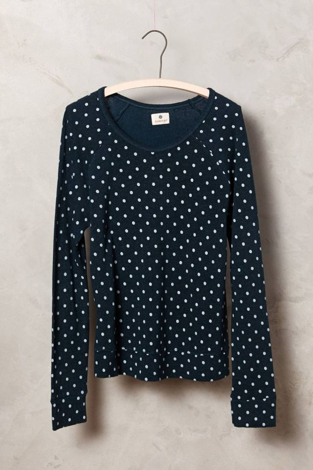 Cropped Dots Pullover by Sundry