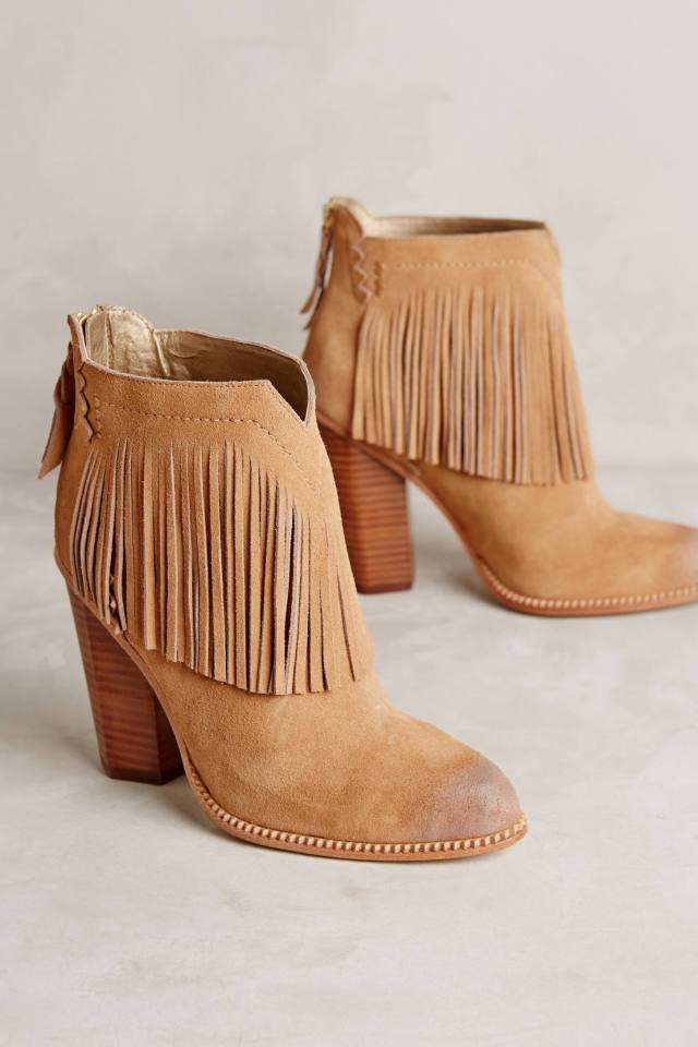 Fringe Booties by Cynthia Vincent