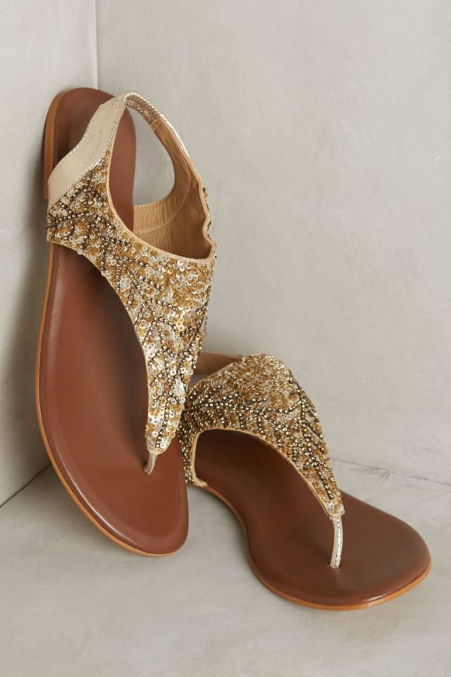 Sequined Thongs by Deepa Gurnani