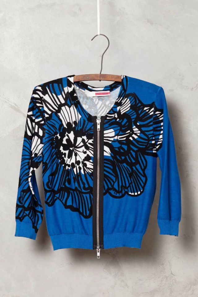 Delphinium Cropped Cardigan by Tracy Reese