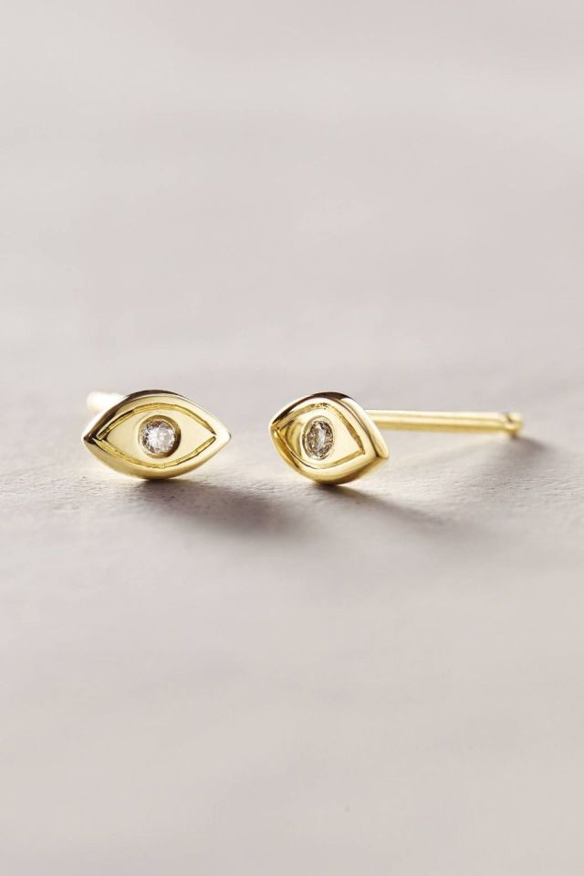 Diamond Gaze Studs by Charlie and Marcelle