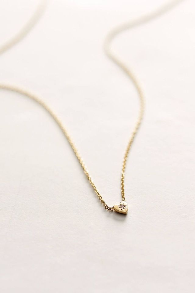 Diamond Mini Heart Necklace by Charlie and Marcelle