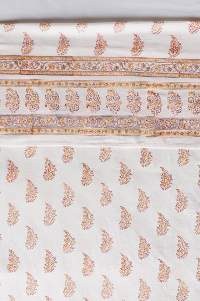 Rust Tiny Booti Flat Sheet by Kerry Cassill