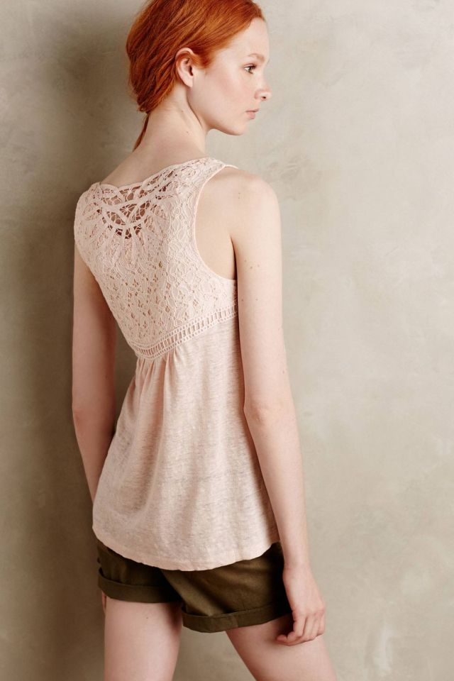 Laced Lei Tank by Meadow Rue