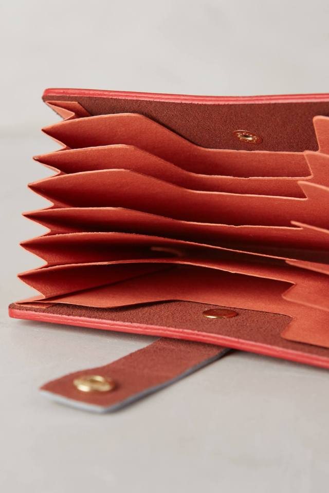 Leather Envelope Accordian Folder