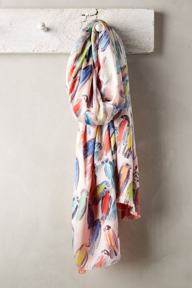 Little Bird Silk Scarf