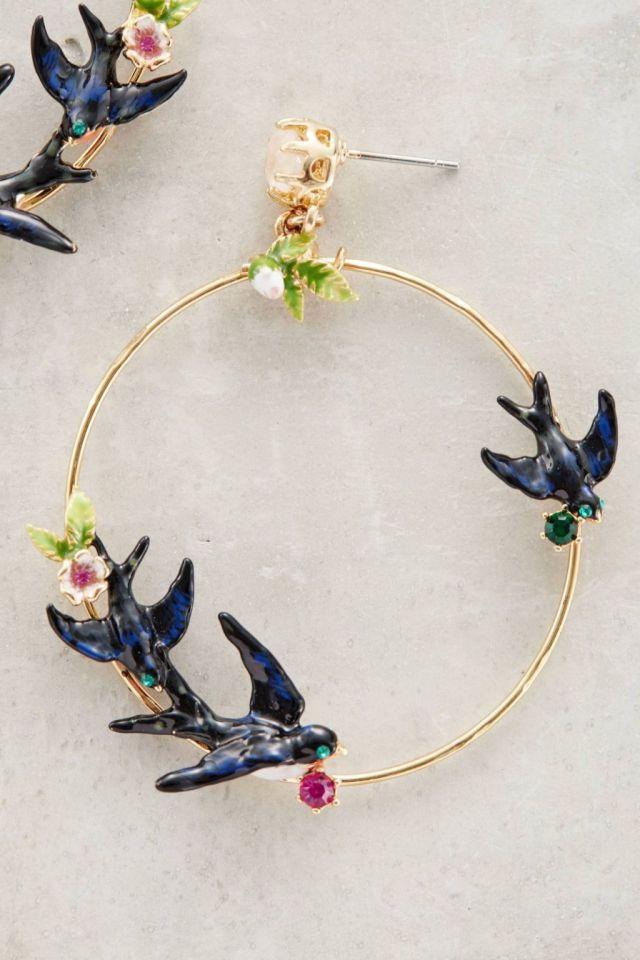Lovebird Hoops by Les Nereides