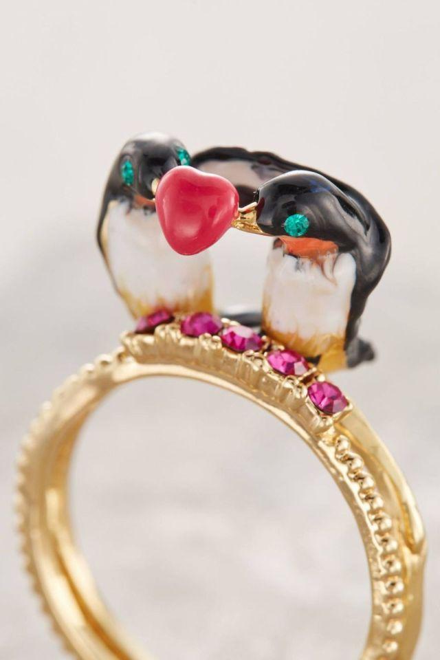Lovebird Ring Set by Les Nereides