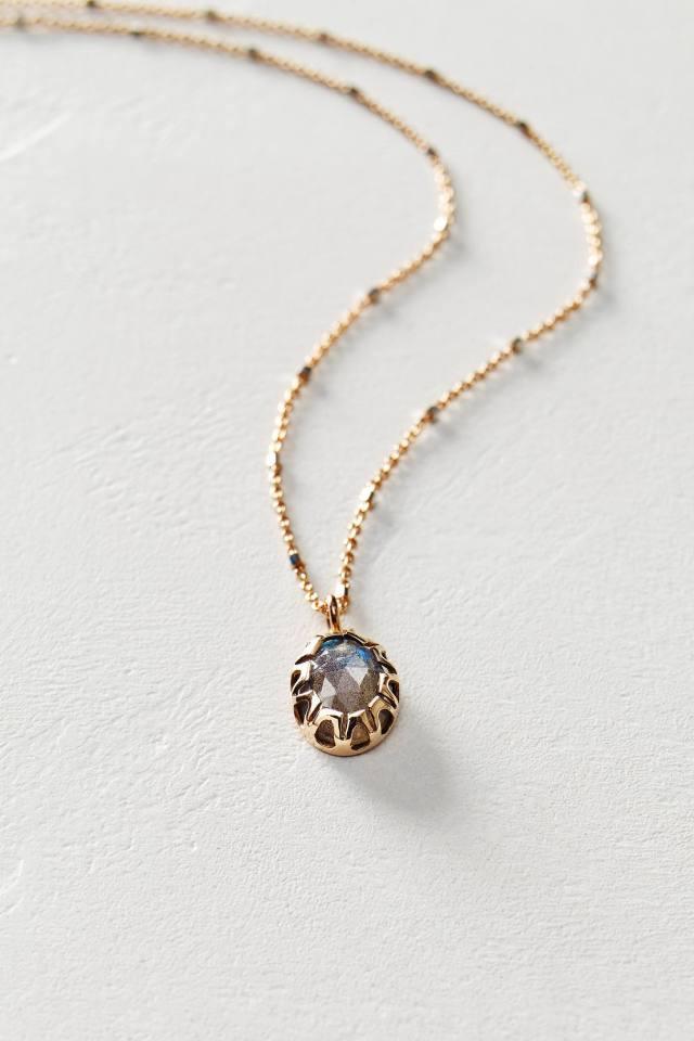 Oval Opal Pendant in 14k Rose Gold by Arik Kastan