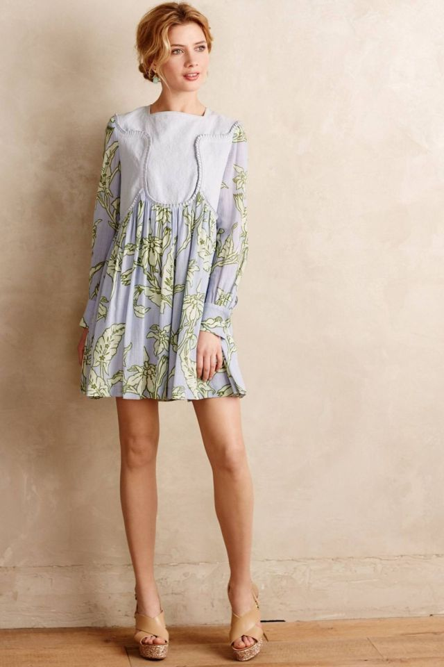 Pleated Greenhouse Dress by Karen Walker