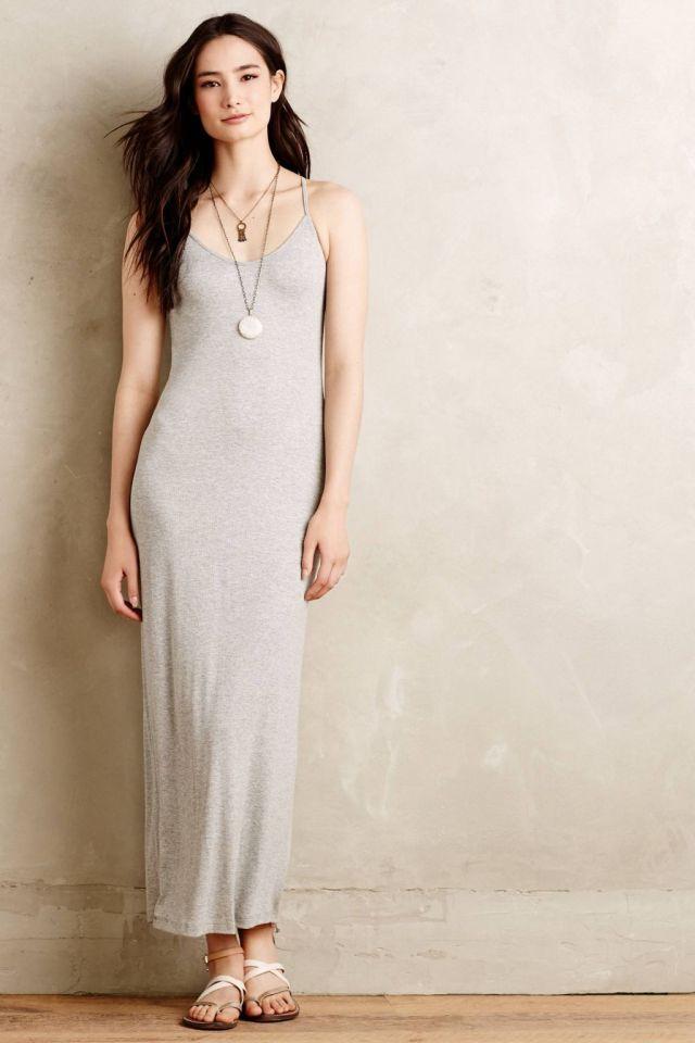 Ribbed Maxi Slip Dress by Bordeaux