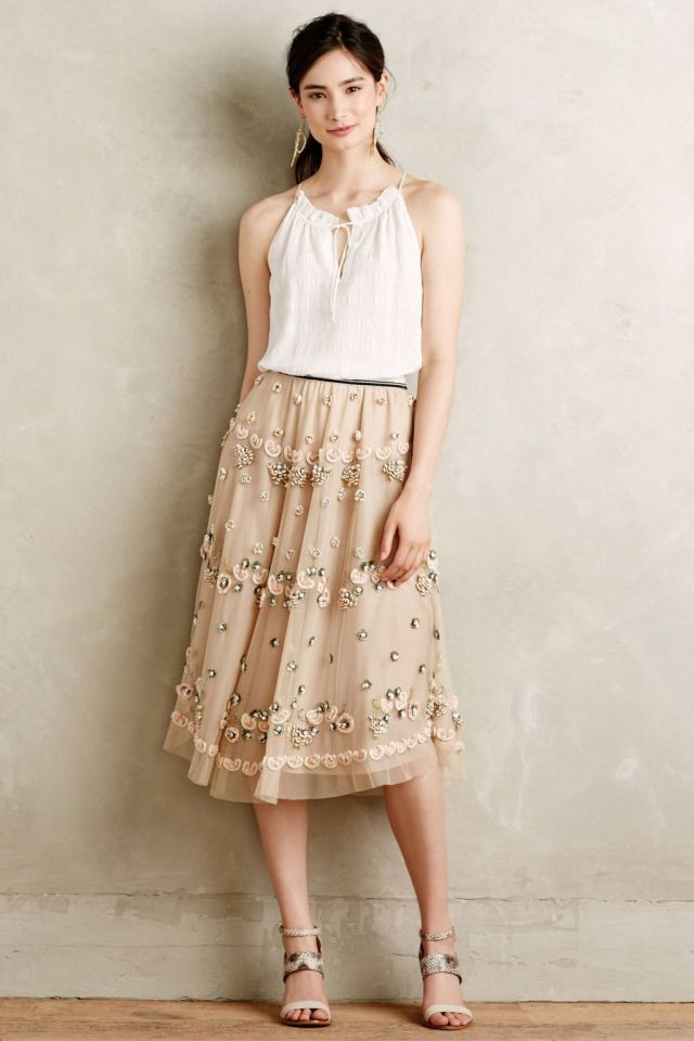 Sakura Embellished Skirt by Not So Serious
