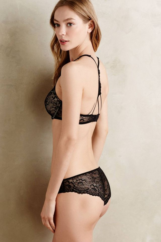Laced T-Back Bra by Samantha Chang