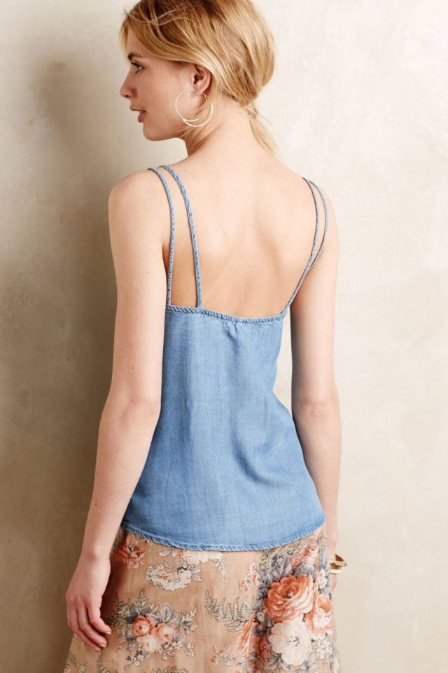 Scooped Chambray Cami Detail