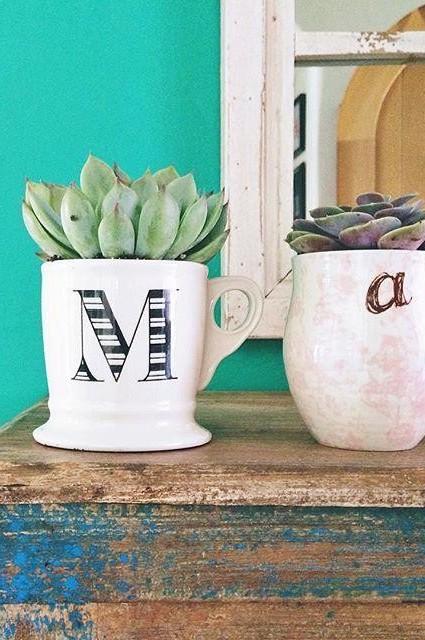 As a plant pot