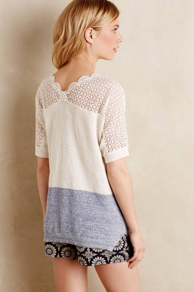 Blocked Lace-Back Tunic by Moth