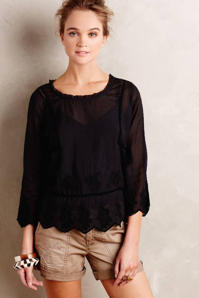 Carrara Peasant Top by Velvet by Graham and Spencer