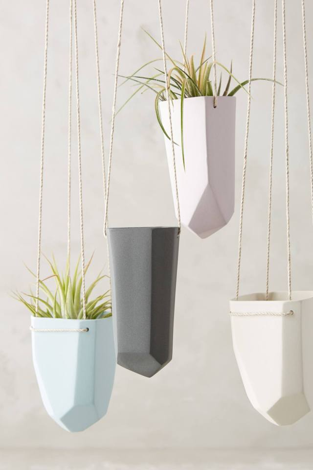 Crystal-Cut Hanging Planter