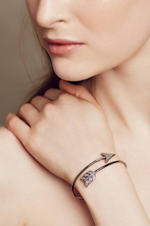 Diamond Arrow Cuff by Renee Sheppard