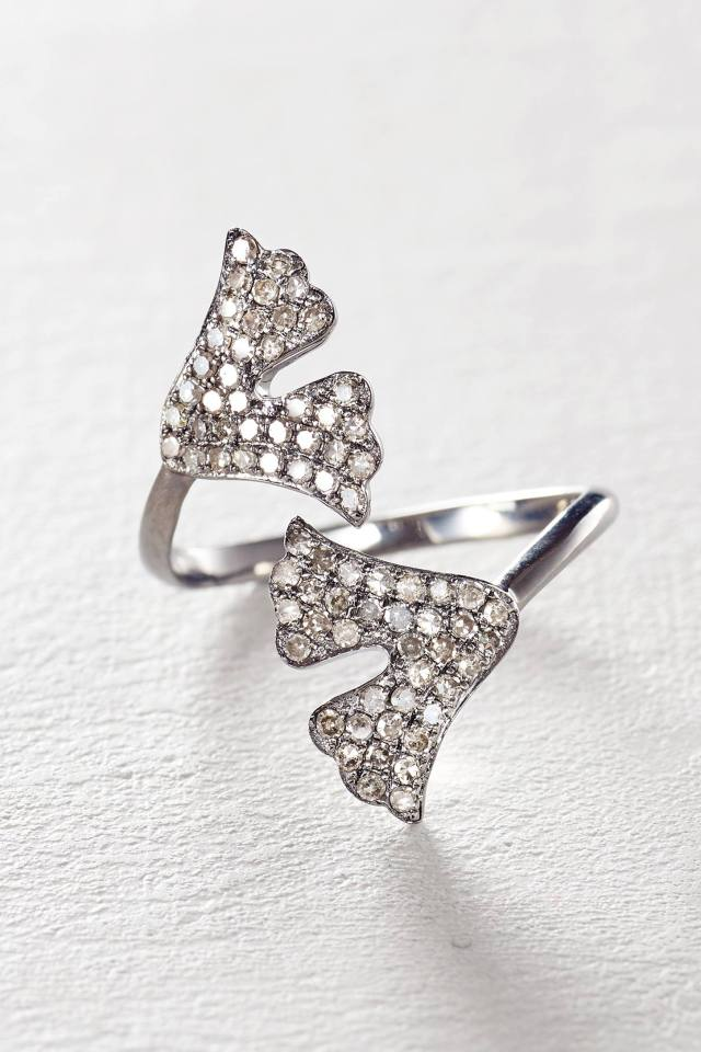 Diamond Gingko Ring by Renee Sheppard