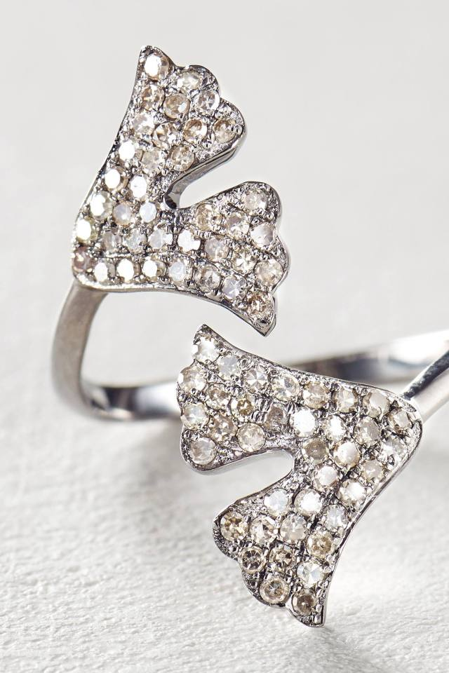 Diamond Gingko Ring by Renee Sheppard