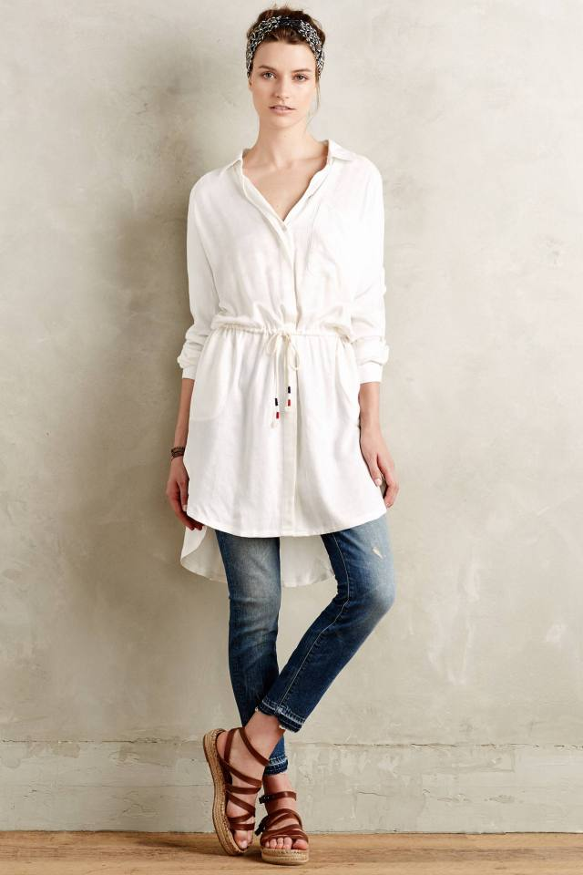 Nephele Buttondown Tunic by Love by Diego Binetti