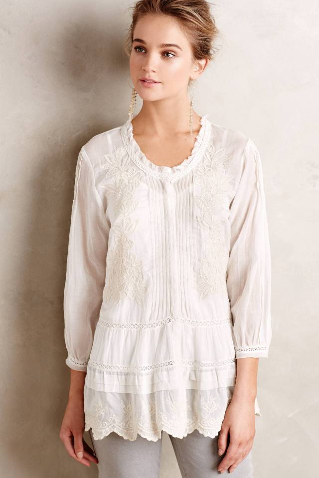 Peronelle Peasant Top by Velvet by Graham and Spencer