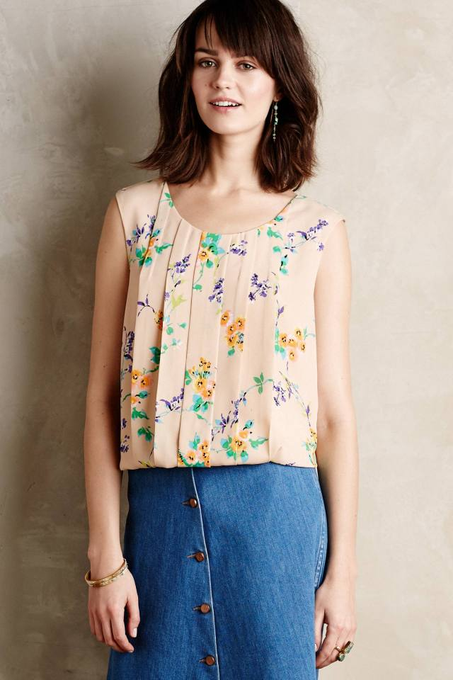 Pleated Petals Tank by Meadow Rue