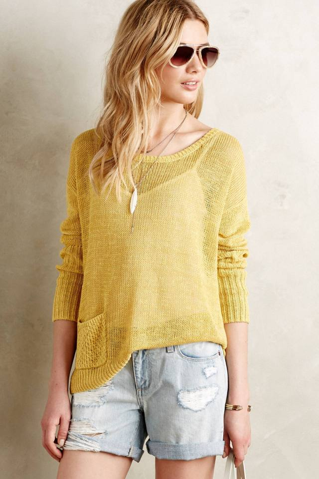 Ribbed Linen Pullover by Sparrow