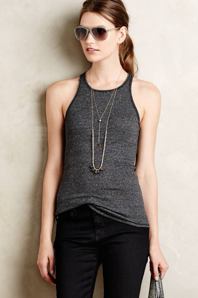 Ribbed Racerback Tank by Stateside