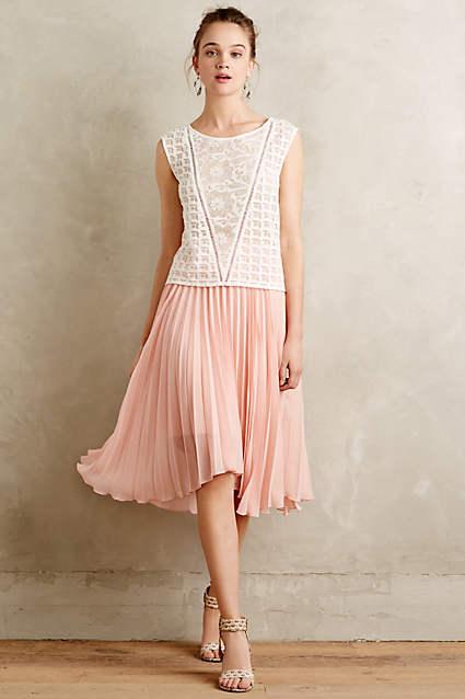 Scalloped Pleats Midi Skirt by Meadow Rue