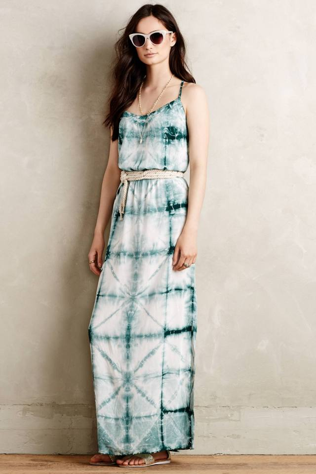 Shibori Sea Maxi Dress by The Odells