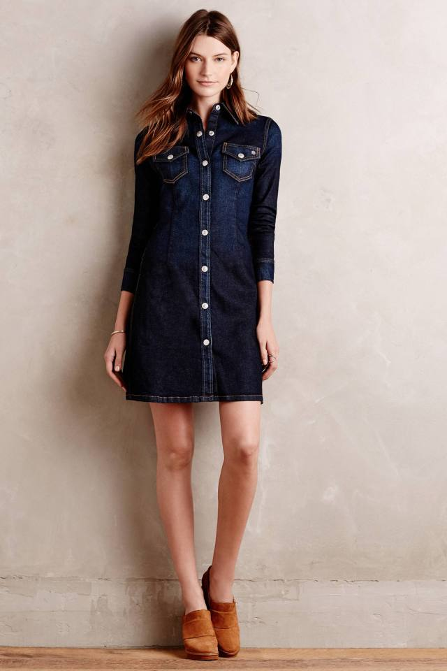 Pixie Denim Shirtdress by Alexa Chung for AG