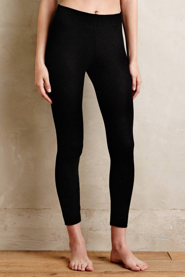 Basic Ribbed Leggings by Bordeaux