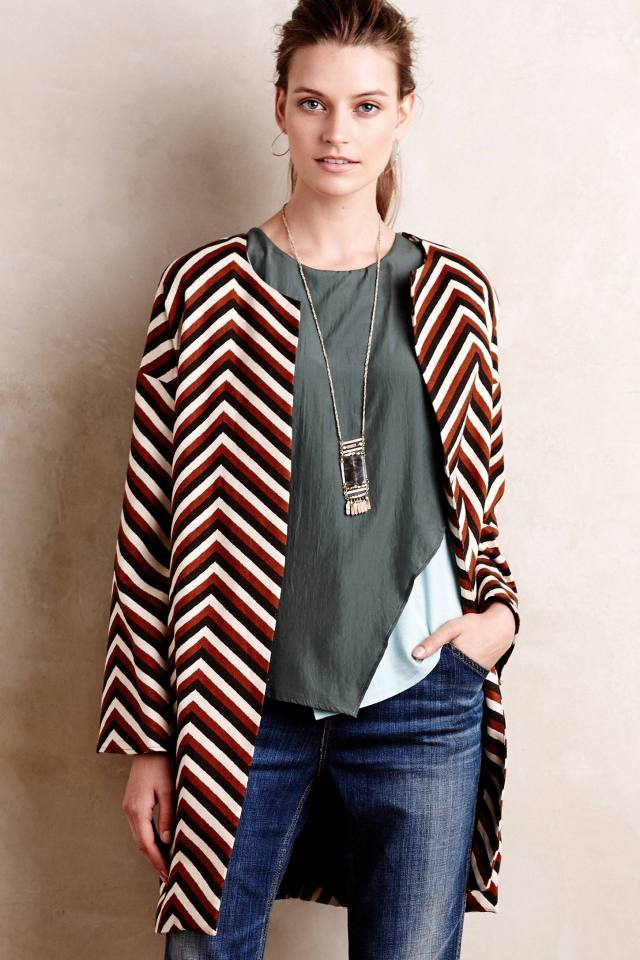 Chevron Car Coat by Eva Franco
