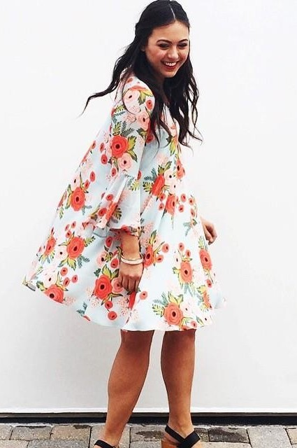 Fluttered Blooms Swing Dress by Paper Crown + Rifle Paper Co.
