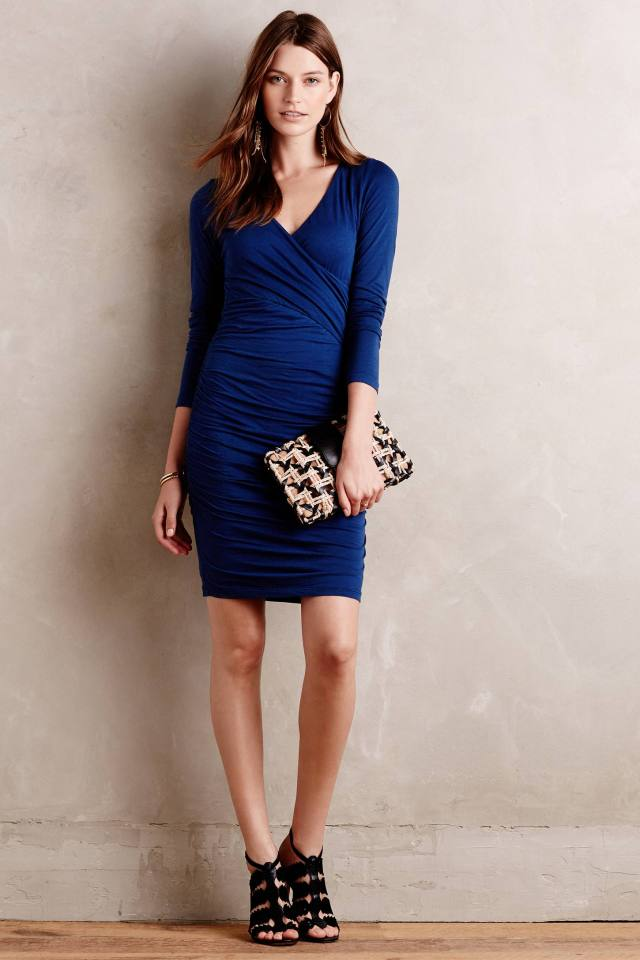Knit Surplice Dress by Velvet by Graham and Spencer