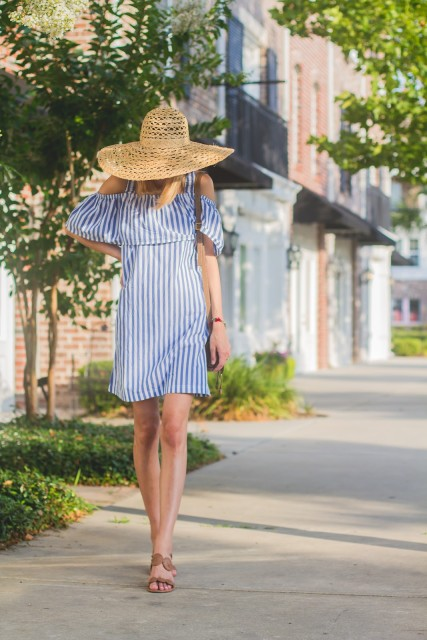Rehoboth Stripe Mini Dress by WHIT Two