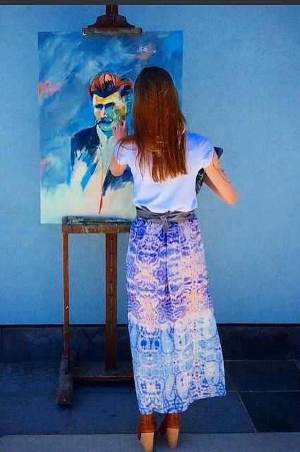 Waimea Silk Maxi Skirt by Maeve