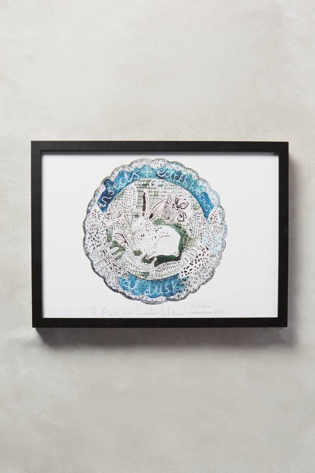 A Plate For Lamb's Lettuce Wall Art by Cornelia O'Donovan