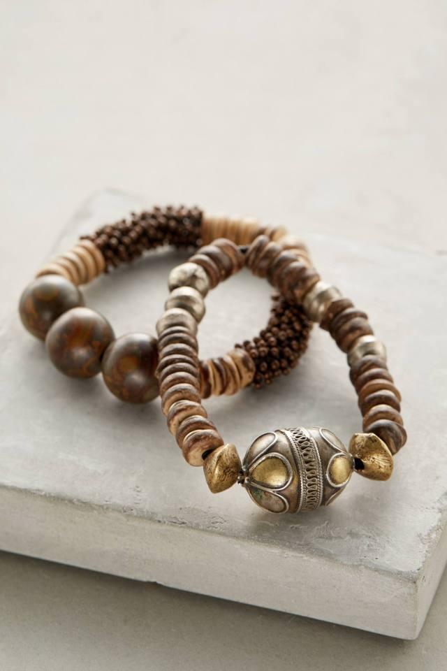 Brass & Sand Bracelet Set