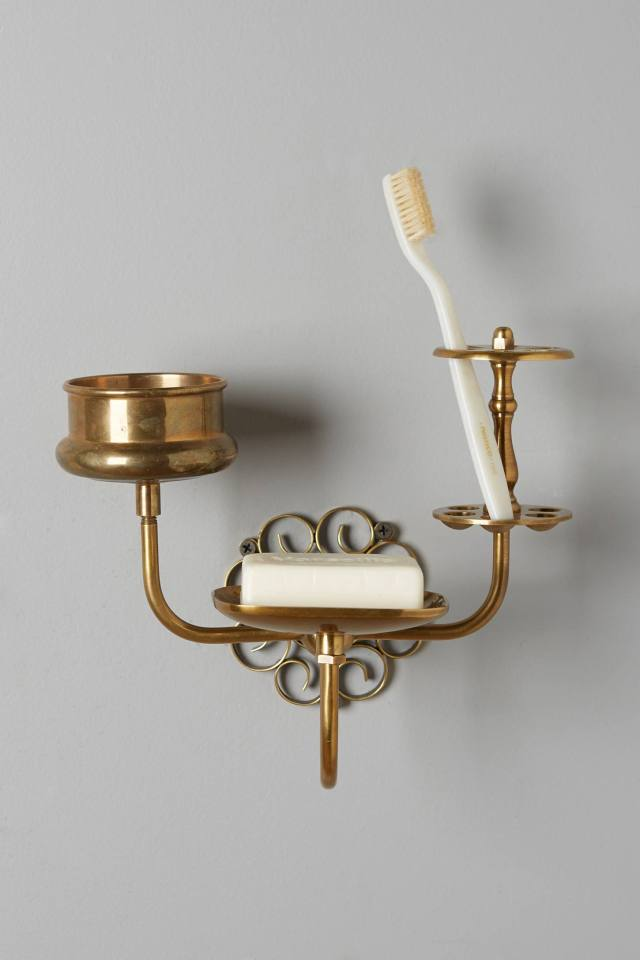Brass Trinket Bath Caddy