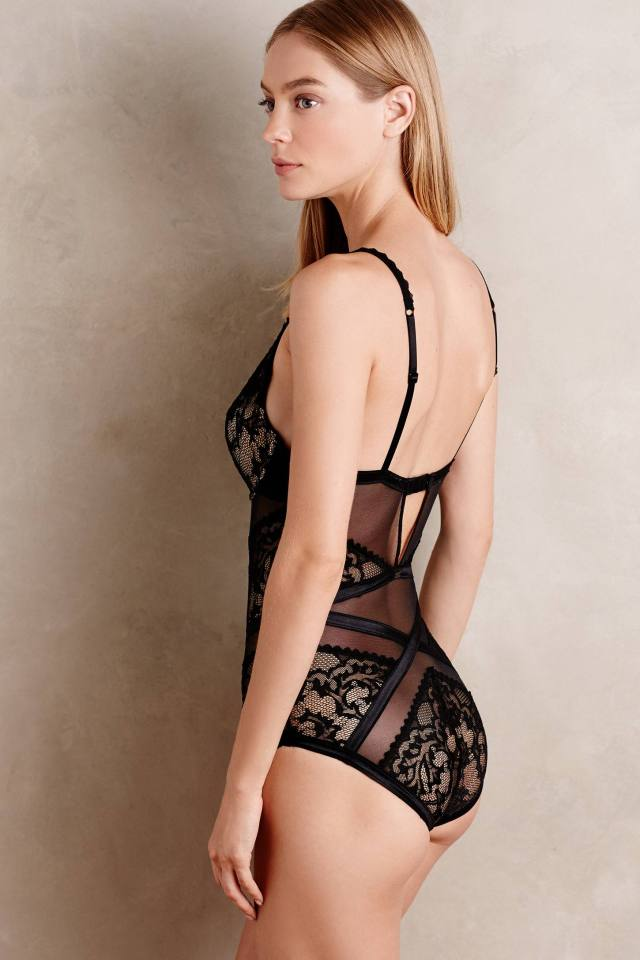 Ribboned Lace Bodysuit by Calvin Klein Underwear