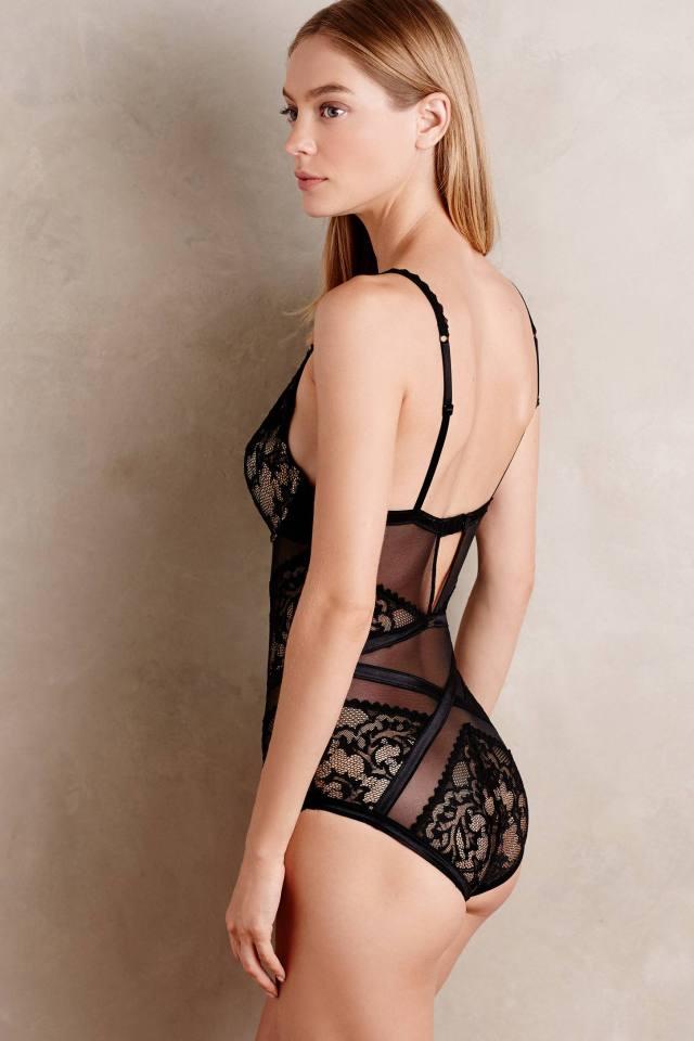 Ribboned Lace Bodysuit by Calvin Klein Underwear
