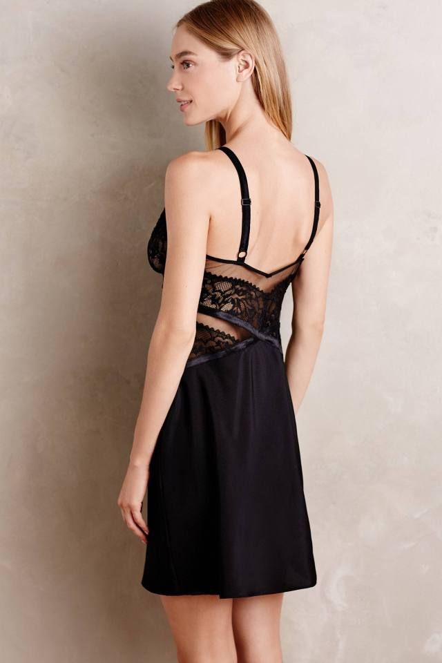 Ribboned Lace Chemise by Calvin Klein Underwear
