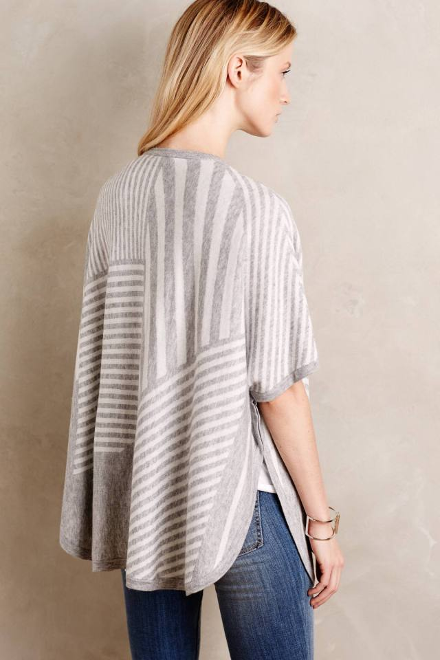 Elyot Stripe Poncho by Splendid